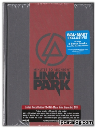 Minutes To Midnight (CD+DVD, United States, 182716-2, Grey, Wal-Mart Exclusive, Clean)