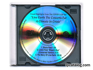 Live Earth, DVD, Digital Clone
