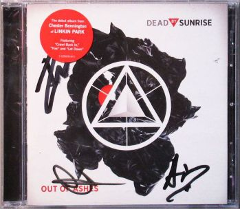 Lot #6 Signed Dead By Sunrise Out of Ashes CD