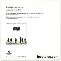 Given Up (BENELUX, Promo)