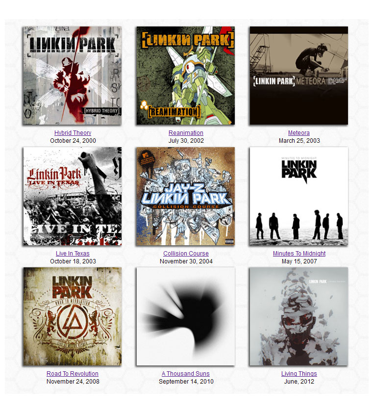 Linkin Park All Albums Wiki